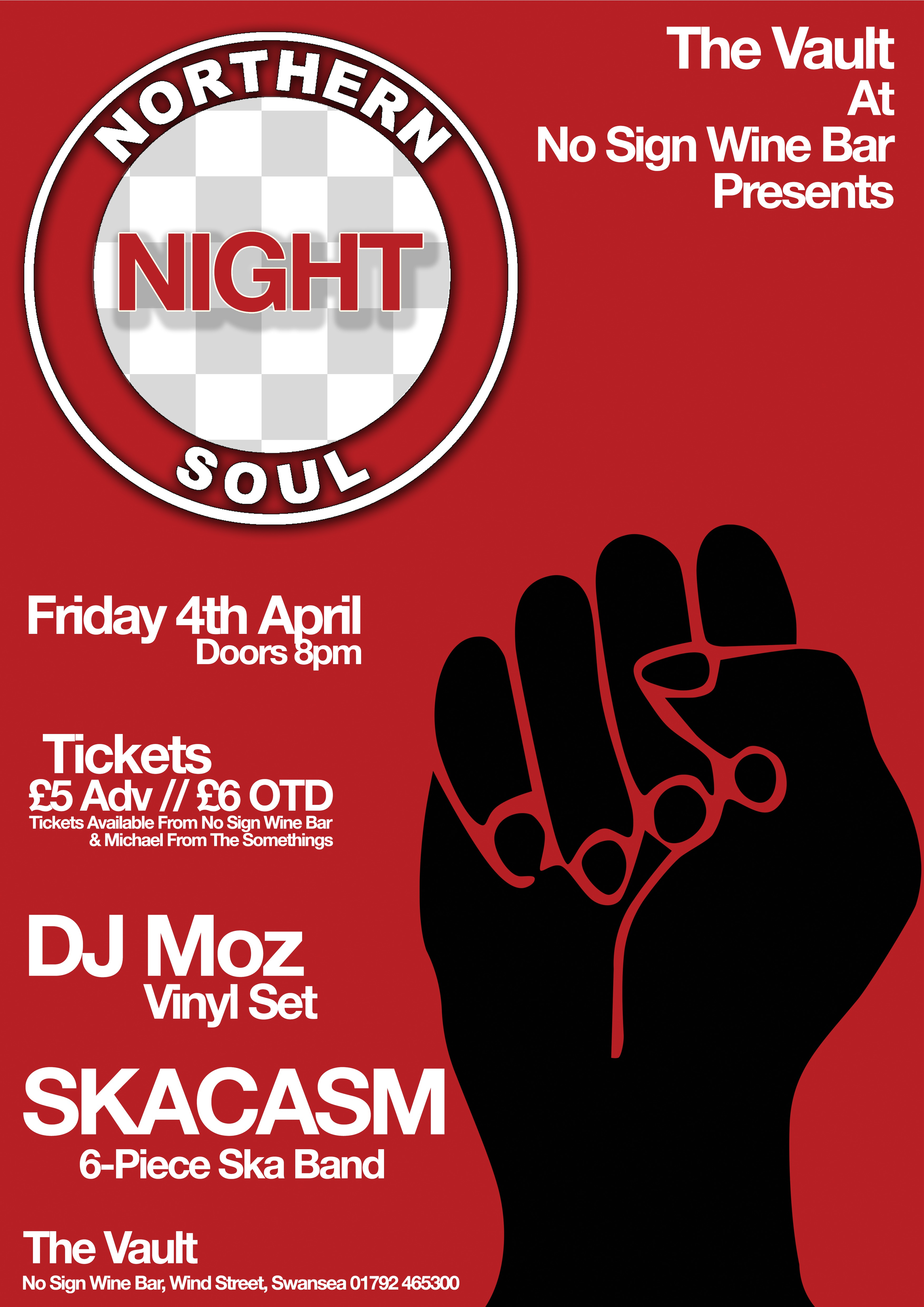 Northern Soul Night   April 4th 2014   The Vault Swansea