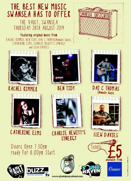 Swansea Unsigned | 28.8.14 | Entry £5 | The Vault Swansea