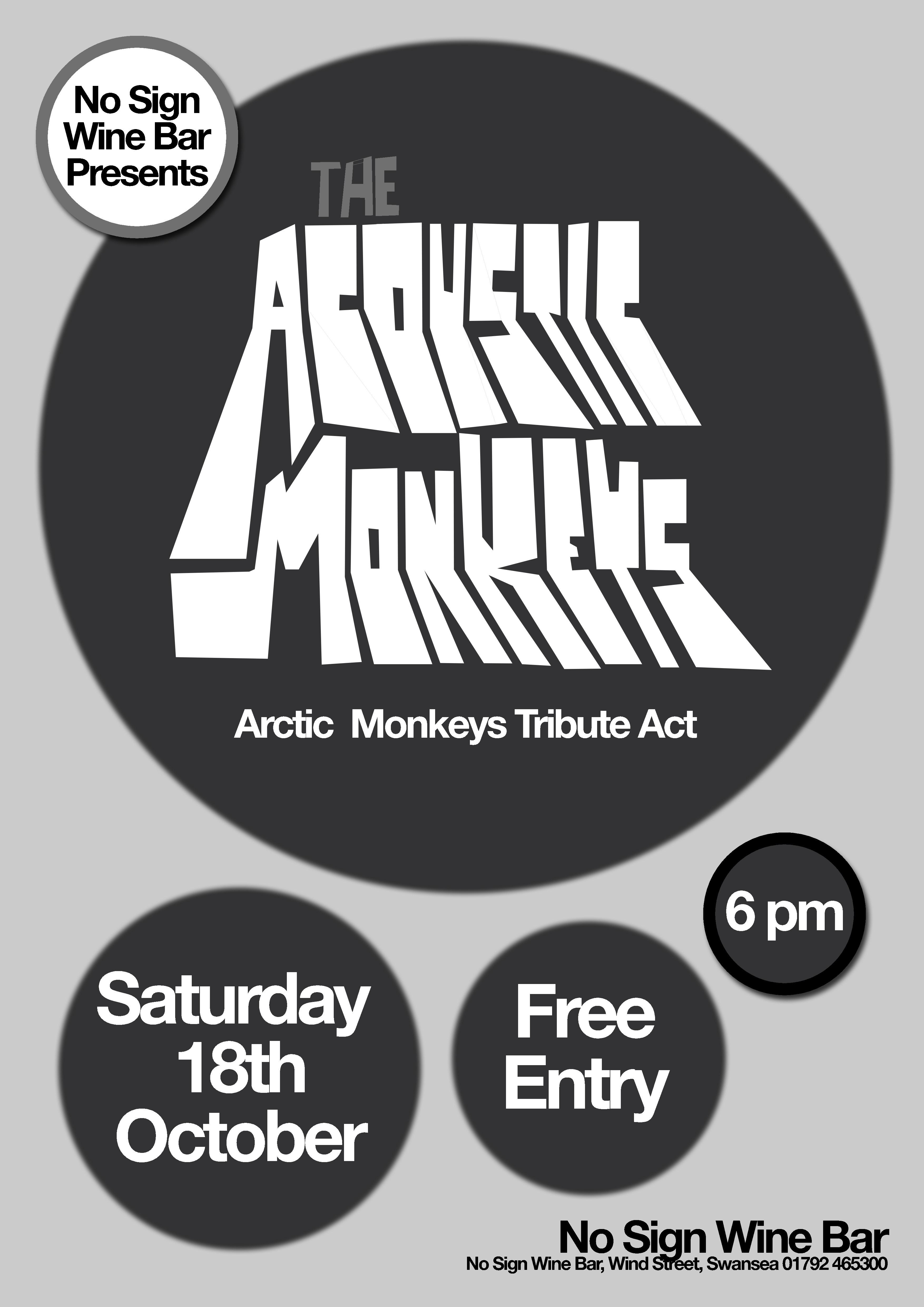 Acoustic Monkeys | 18.10.14 | Free entry | The Vault Swansea