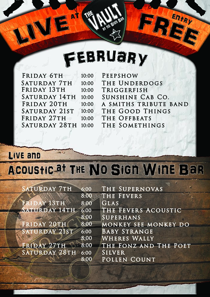 Live Music Listings | February | 2015