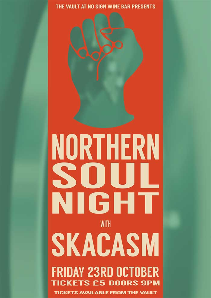 Northern Soul Night featuring Skacasm|23rd October 2015