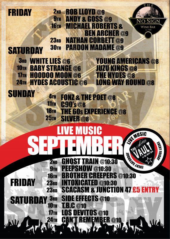 Live Music Listings | September '16