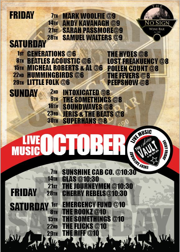 Live Music Listings | October '16