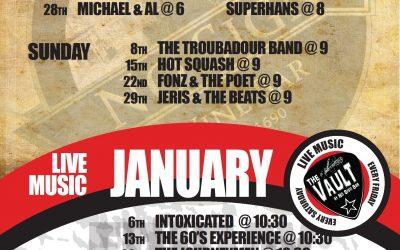 January Live Music at No Sign Bar