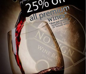 Wine Day Wednesday – 25% off All Premium Wines