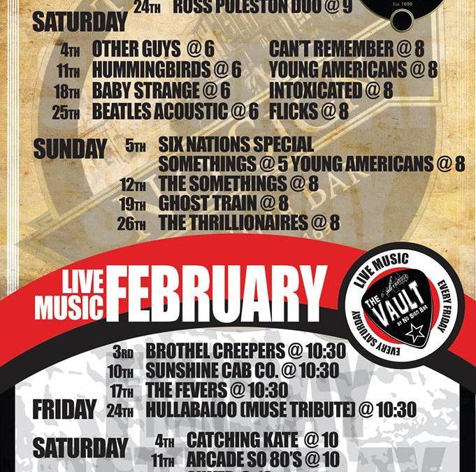 Live Music Listings | February '17