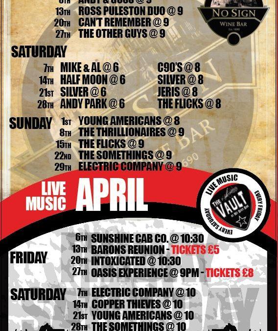 Live Music | April '18