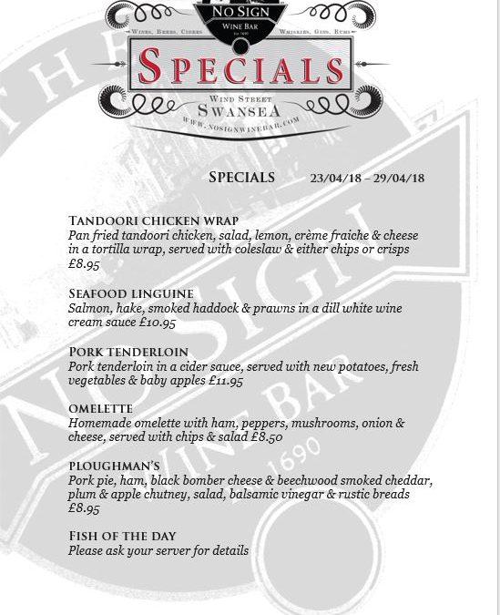Specials | 23rd – 28th April