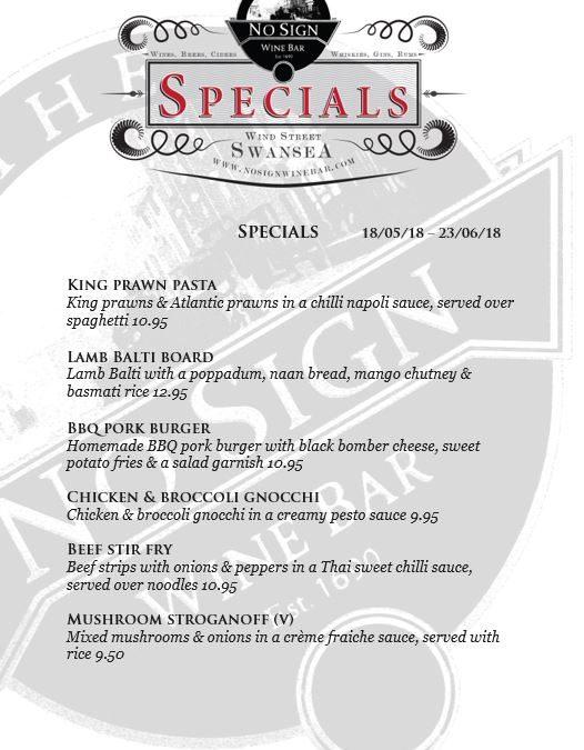 Specials | 18th – 23rd June
